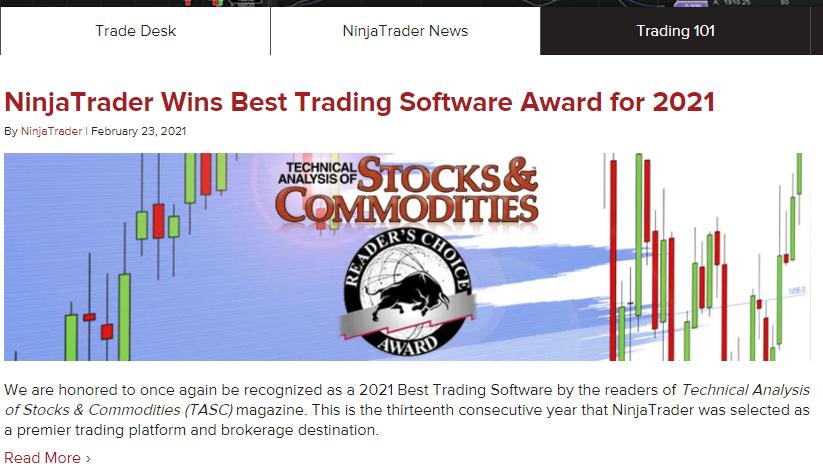 NinjaTrader News