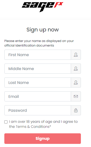 Sage FX Account Opening Form